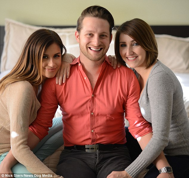 Last laugh: Adam was voted as least likely to get a girlfriend when he was in school - now he has two!