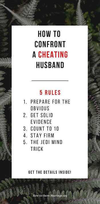 what to say to a cheating husband
